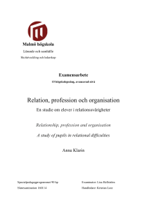 Relation, profession och organisation