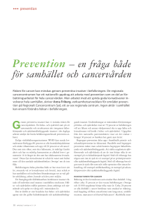 Prevention - Onkologi i Sverige