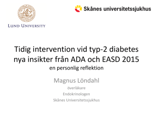 Tidig intervention vid typ-2 diabetes – nya insikter