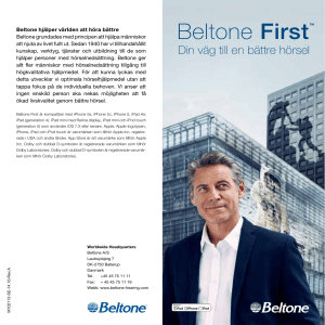 Beltone First - Beltone Hörapparater