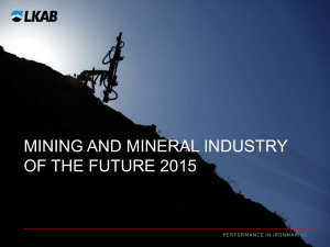 mining and mineral industry of the future 2015