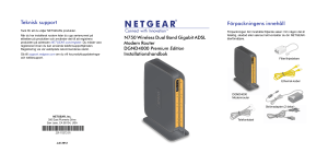 NETGEAR N750 Wireless Dual Band Gigabit ADSL Modem Router