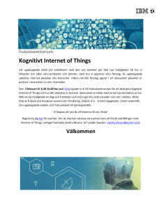 Kognitivt Internet of Things