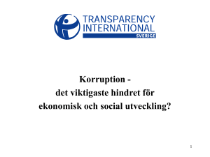 No Slide Title - Transparency International Sverige