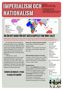 Nationalism och imperialism ht 16