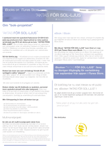 Information om bokprojektet september 2015
