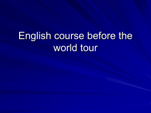 English course before the world tour