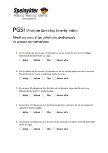 PGSI (Problem Gambling Severity Index)