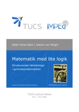 Matematik med lite logik - Turku Centre for Computer Science