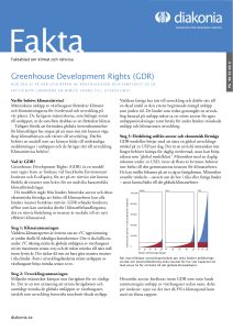 Greenhouse Development Rights (GDR)