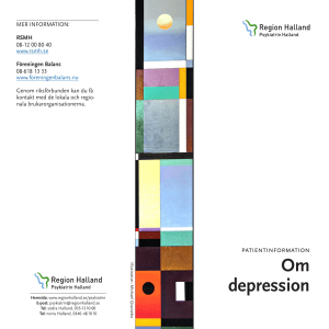 Om depression - Region Halland
