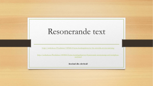 Resonerande text