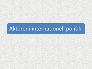 Aktörer i internationell politik ht12