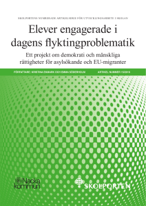 Elever engagerade i dagens flyktingproblematik