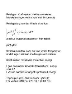 Real gas - Atomic Physics