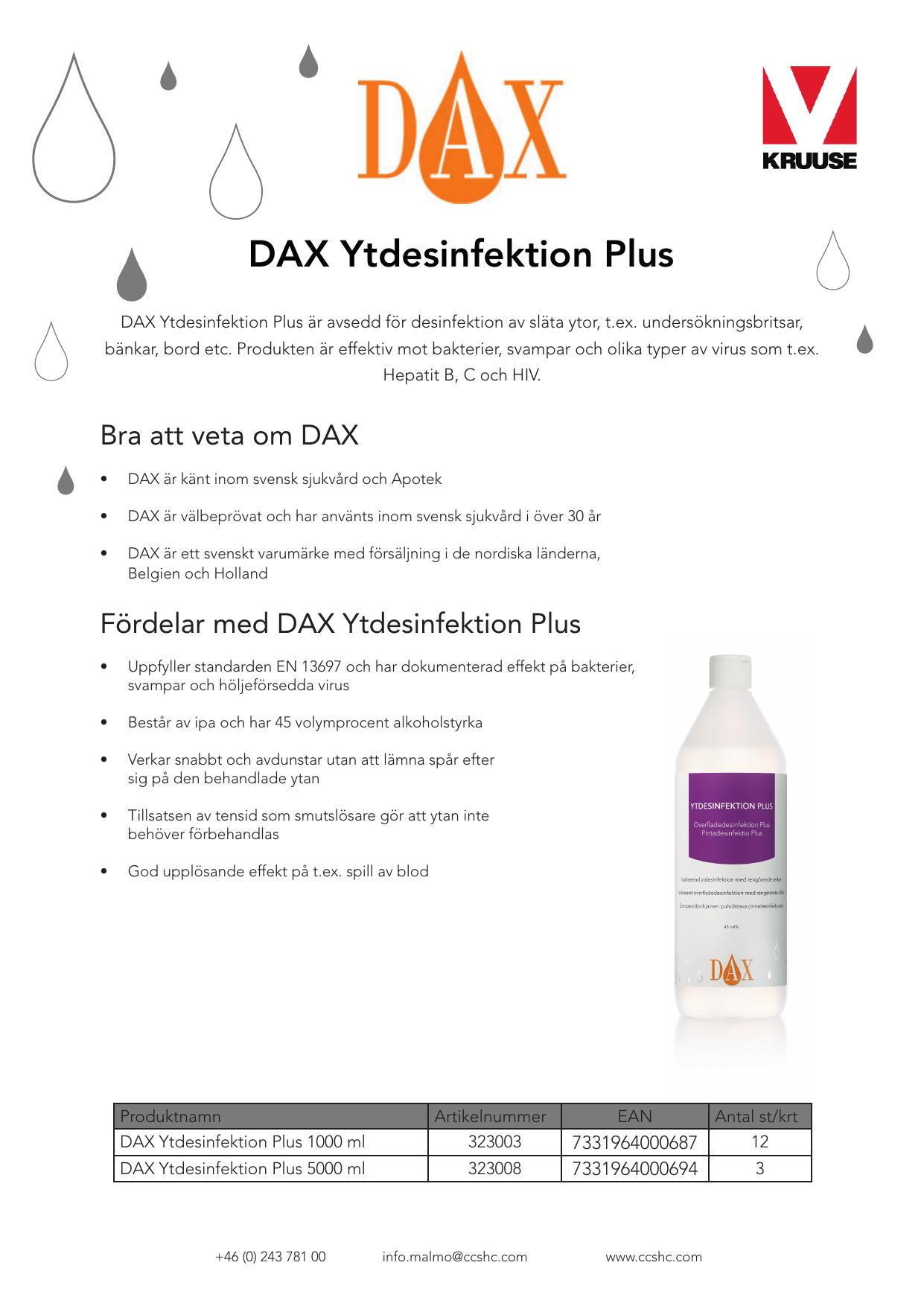 dax ytdesinfektion plus