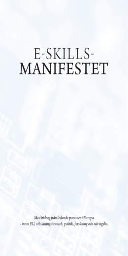 manifestet - eSkills for Jobs