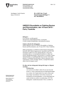 UNESCO Roundtable on Fighting Racism and