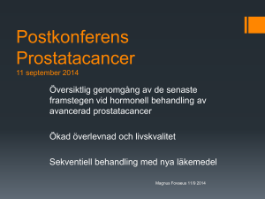 Postkonferens Prostatacancer 11 september 2014