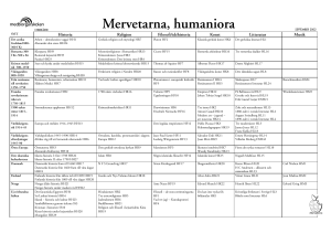 Mervetarna, humaniora