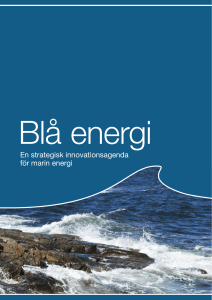 Blå energi – en strategisk innovationsagenda för marin energi