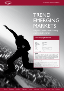 trend emerging markets