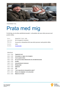 Program 28 april - Uppdrag Psykisk Hälsa