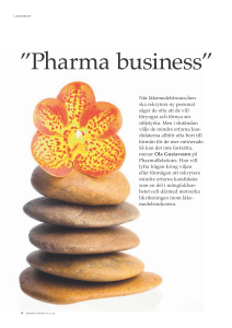 Pharma business - Pharma industry