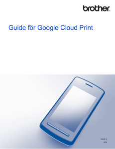 Guide för Google Cloud Print