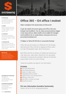 Office 365 – Ert office i molnet