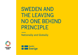 Sweden and the Leaving No One Behind Principle