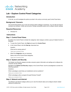 11.2.1.5 Lab - Explore Control Panel Categories